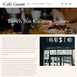 Lunch Box Catering Sydney