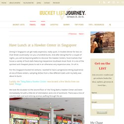 Have Lunch at a Hawker Center in Singapore