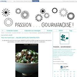 """Pour ma """"lunch box"""" ... SALADE LENTILLES-TOMATES-FETA"""