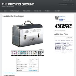 LunchBox for Grasshopper - THE PROVING GROUND