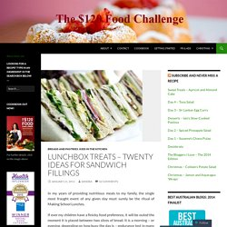 Lunchbox Treats – Twenty Ideas for Sandwich Fillings « The