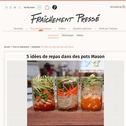 5 lunchs faciles dans des pots Mason
