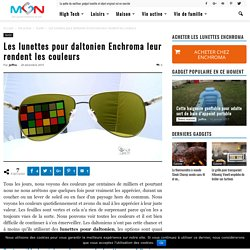 Les lunettes pour daltonien Enchroma leur rendent les couleurs