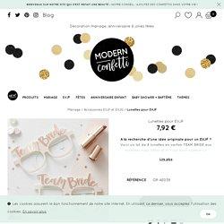 Lunettes pour EVJF - Modern Confetti
