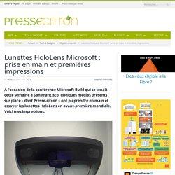 Lunettes HoloLens : prise en main et premières impressions