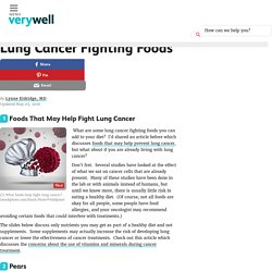 Lung Cancer Fighting Foods