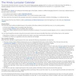 The Hindu Lunisolar Calendar