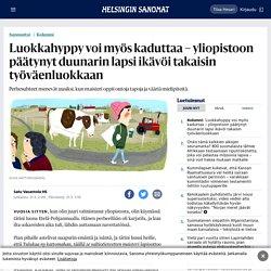 Luokkahyppy voi myös kaduttaa – yliopistoon päätynyt duunarin lapsi ikävöi takaisin työväenluokkaan - Sunnuntai - HS.fi