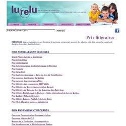 Lurelu: Prix littéraires (canadien)