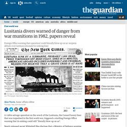 Lusitania divers warned of danger from war munitions in 1982, papers reveal