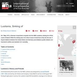 Lusitania, Sinking of