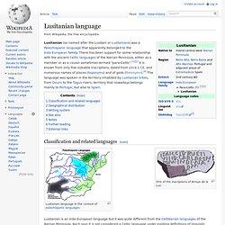 Lusitanian language