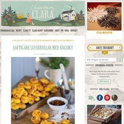 Saftigare lussebullar med rågsikt - Claras jul, Claras recept, Fika & Bakat, Julmat - UnderbaraClara