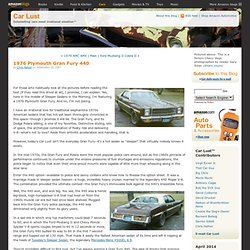 Car Lust: 1976 Plymouth Gran Fury 440