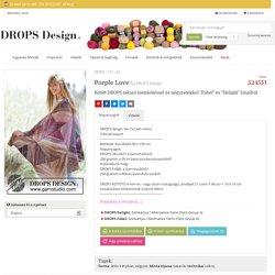 """Purple Love / DROPS 167-40 - Kötött DROPS takaró lustakötéssel és négyzetekkel """"Fabel"""" és """"Delight"""" fonalból. - Ingyenesen elérheto minta a DROPS Designtól"""