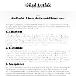 5 Traits of a Successful Entreprenuer - Gilad Lutfak