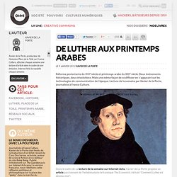De Luther aux printemps arabes