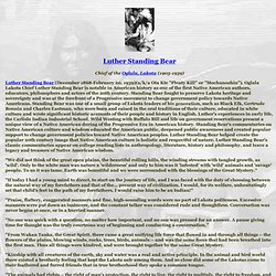 Luther Standing Bear - StumbleUpon