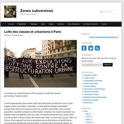 Lutte des classes et urbanisme à Paris