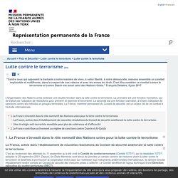 Lutte contre le terrorisme - France ONU