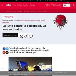 La lutte contre la corruption. La voie roumaine.