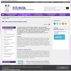 Eduscol_Prevention du décrochage scolaire