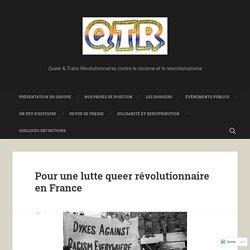 Pour une lutte queer révolutionnaire en France