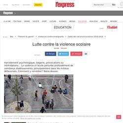 Lutte contre la violence scolaire