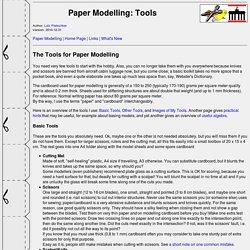 Lutz's Web Site: Paper Modelling Tools