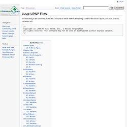 Luup UPNP Files