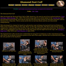 Diamond Foot Cuff