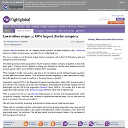 Luxaviation snaps up UK's largest charter company - 5/13/2014