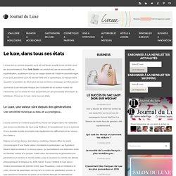 Luxe: le marché du luxe