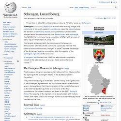 Schengen, Luxembourg