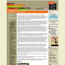 Paris, jardin du Luxembourg. Inauguration : Le cri, l'écrit de Fabrice Hyber - [Site du CNMHE, Comité national pour la Mémoire et l'Histoire de l'Esclavage]