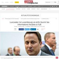 LuxLeaks: le Luxembourg va enfin fournir les informations fiscales à l'UE