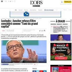 """Luxleaks : Juncker refuse d'être considéré comme """"l'ami du grand capital"""" - 12 novembre 2014"""