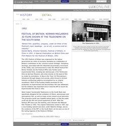 Luxonline Histories: 1952