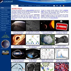 LUXORION ©2000-2016, +660 articles, +33000 images & videos, +5 GB online