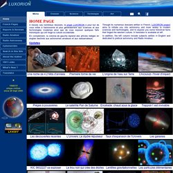 LUXORION ©2000-2016, 660 articles, 14000 images & videos, 4 GB online