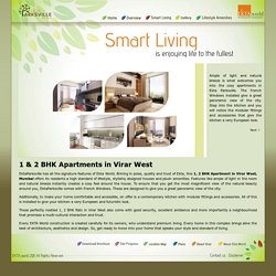 1, 2 BHK Luxurious Flats/Apartments in Virar West, Mumbai - Ekta Parsville