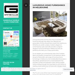 Luxurious Home Furnishings in Melbourne