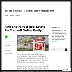 Find The Perfect Real Estate For Yourself Online Easily – Choose luxurious Homes for Sale in Mattapoisett