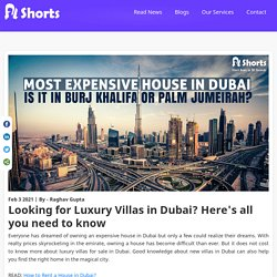 Luxurious Villas to rent or sell in Dubai