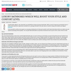 Luxury bathrobes which will boost your style and comfort level