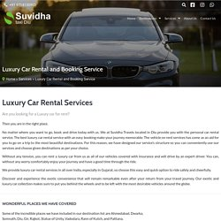 □ Luxury Car Rental and Booking Service - Suvidha Taxi Diu