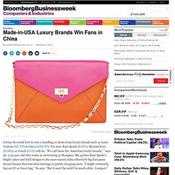 Made-in-USA Luxury Brands Win Fans in China
