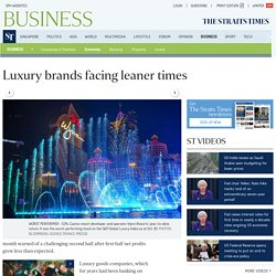 Luxury brands facing leaner times, Economy News