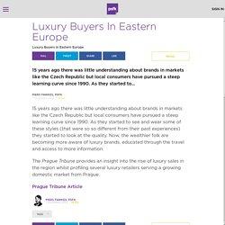 Luxury Buyers In Eastern Europe