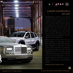 Luxury Car Rentals UAE